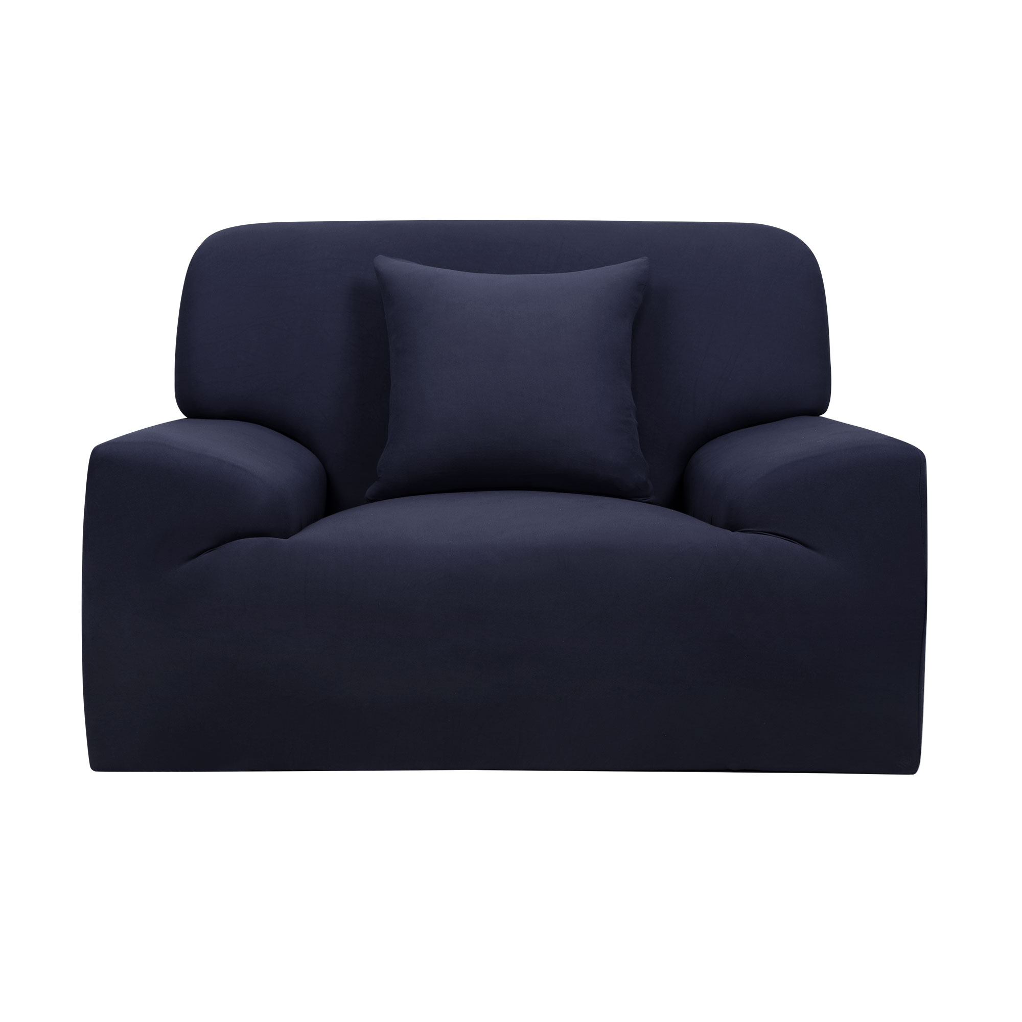 Home Sofa Chair Reversible Stretch Protector Cover Dark Blue 35''-55''