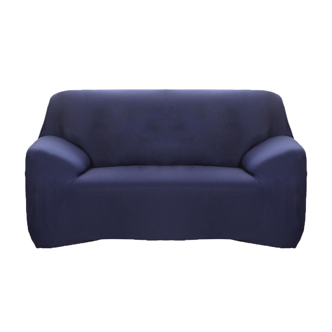Home Reversible Stretch Furniture Sofa Protector Cover Dark Blue 55''-74''