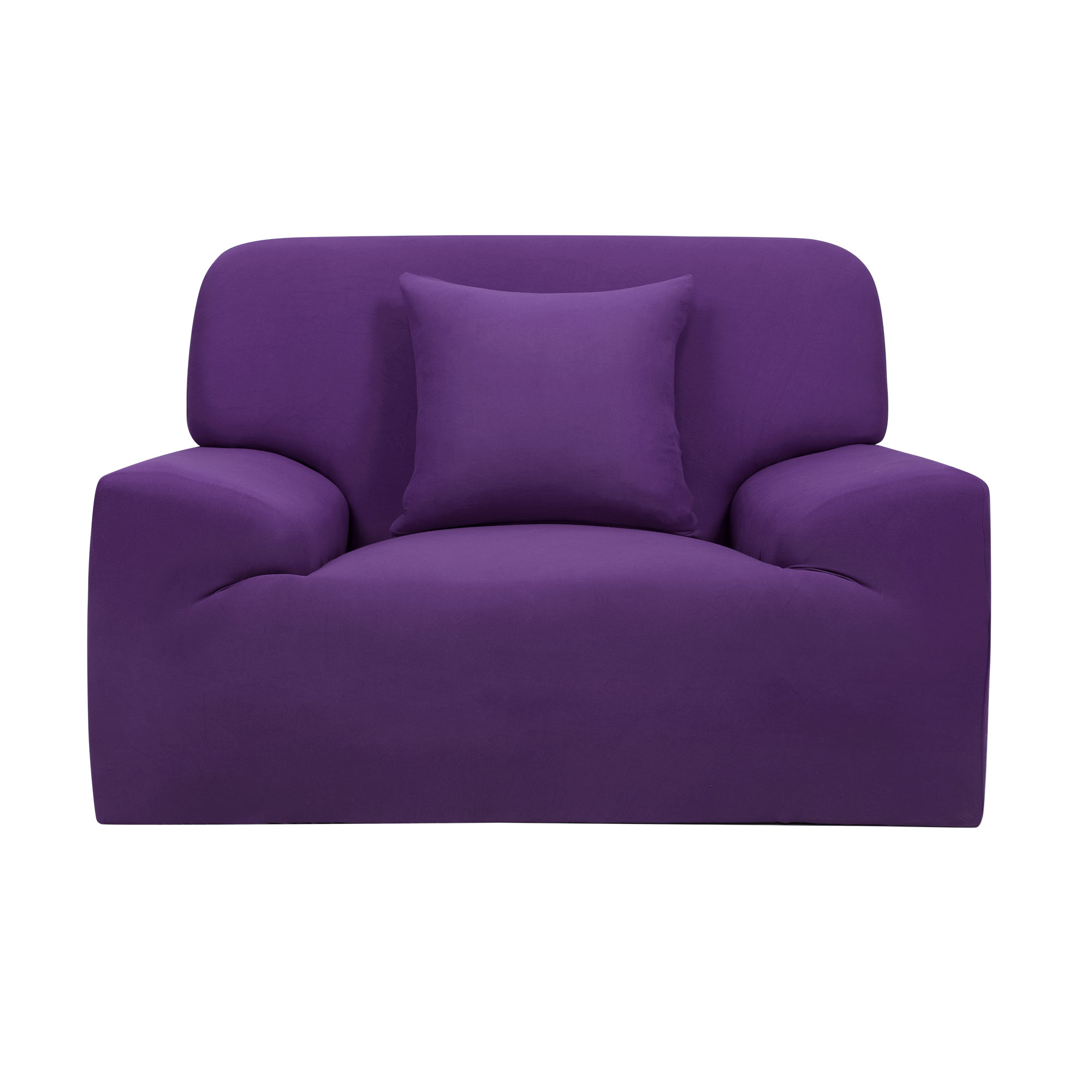 Home Chair Loveseat Sofa Couch Stretch Protector Cover Slipcover Purple 35''-55'