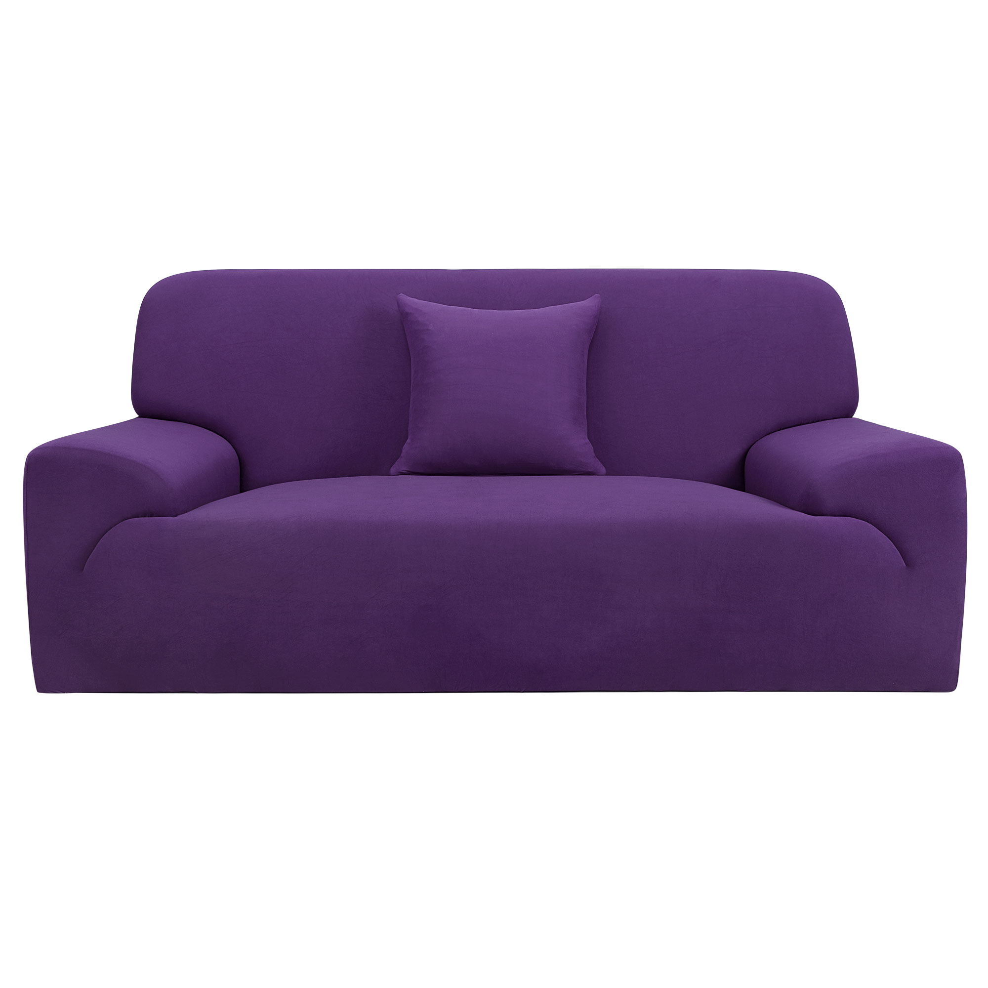 Home Chair Loveseat Sofa Couch Stretch Protector Cover Slipcover Purple 57''-72'