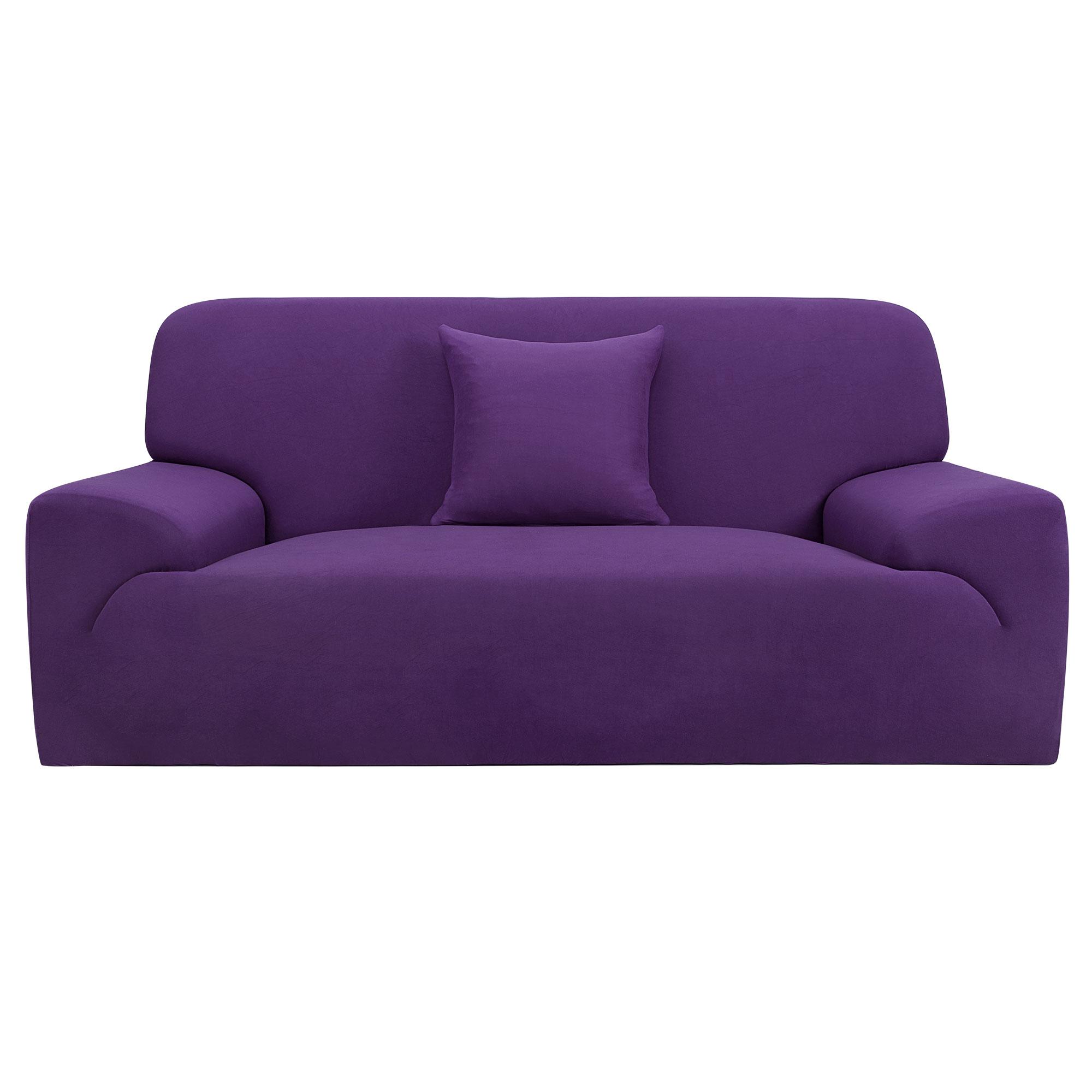 Household Furniture Sofa Elastic Cover Slipcover Protector Purple 74''-90''
