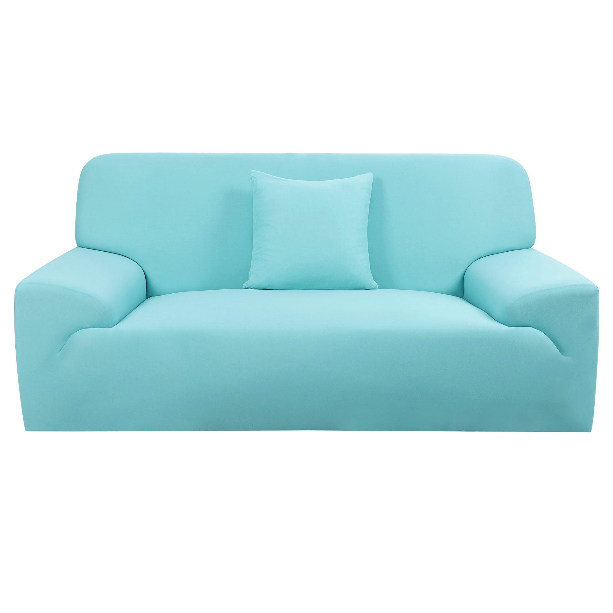 Household Sofa Couch Loveseat Elastic Strap Cover Slipcover Blue 55''-74''
