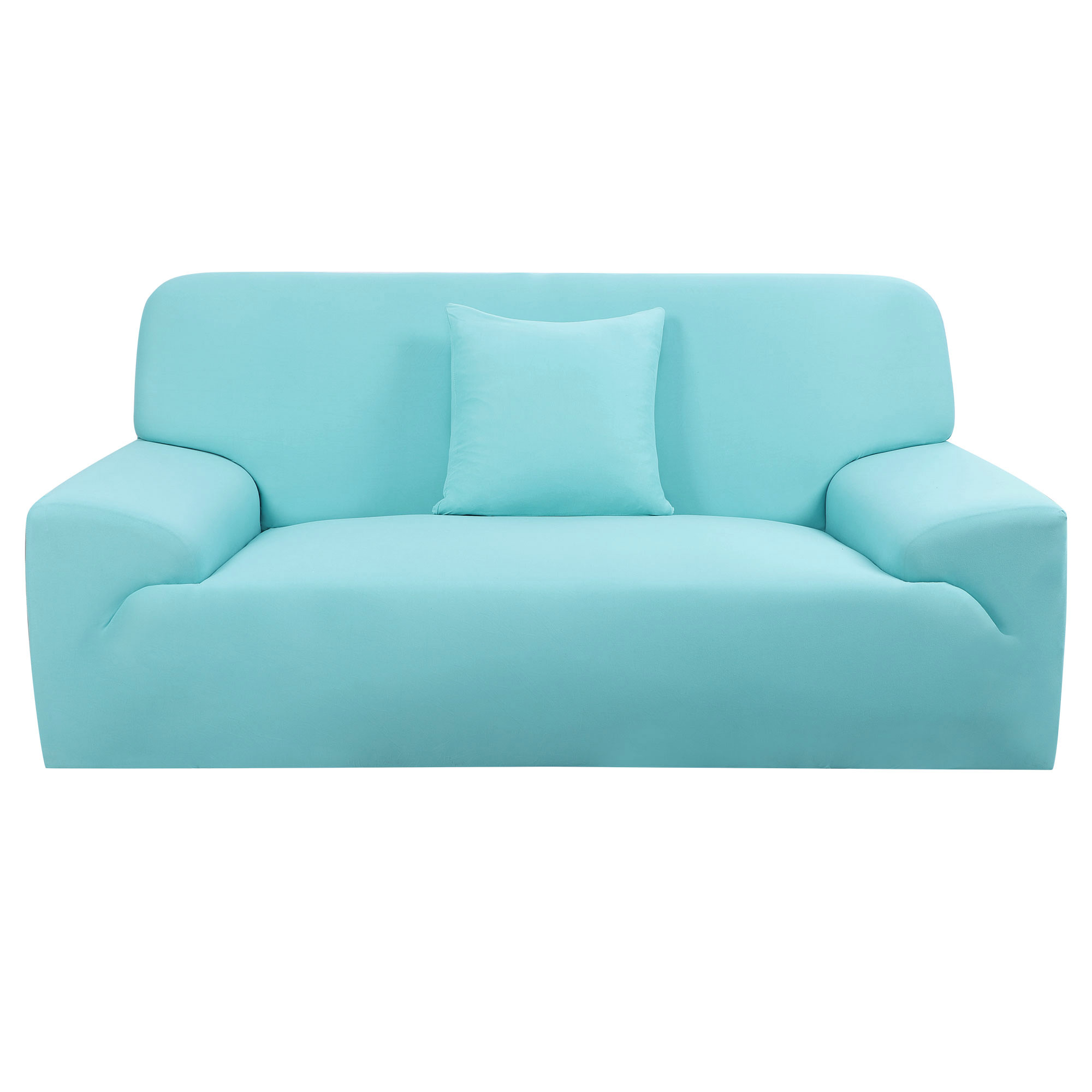 Home Furniture Sofa Couch Cover Slipcover Protector Blue 74''-90''