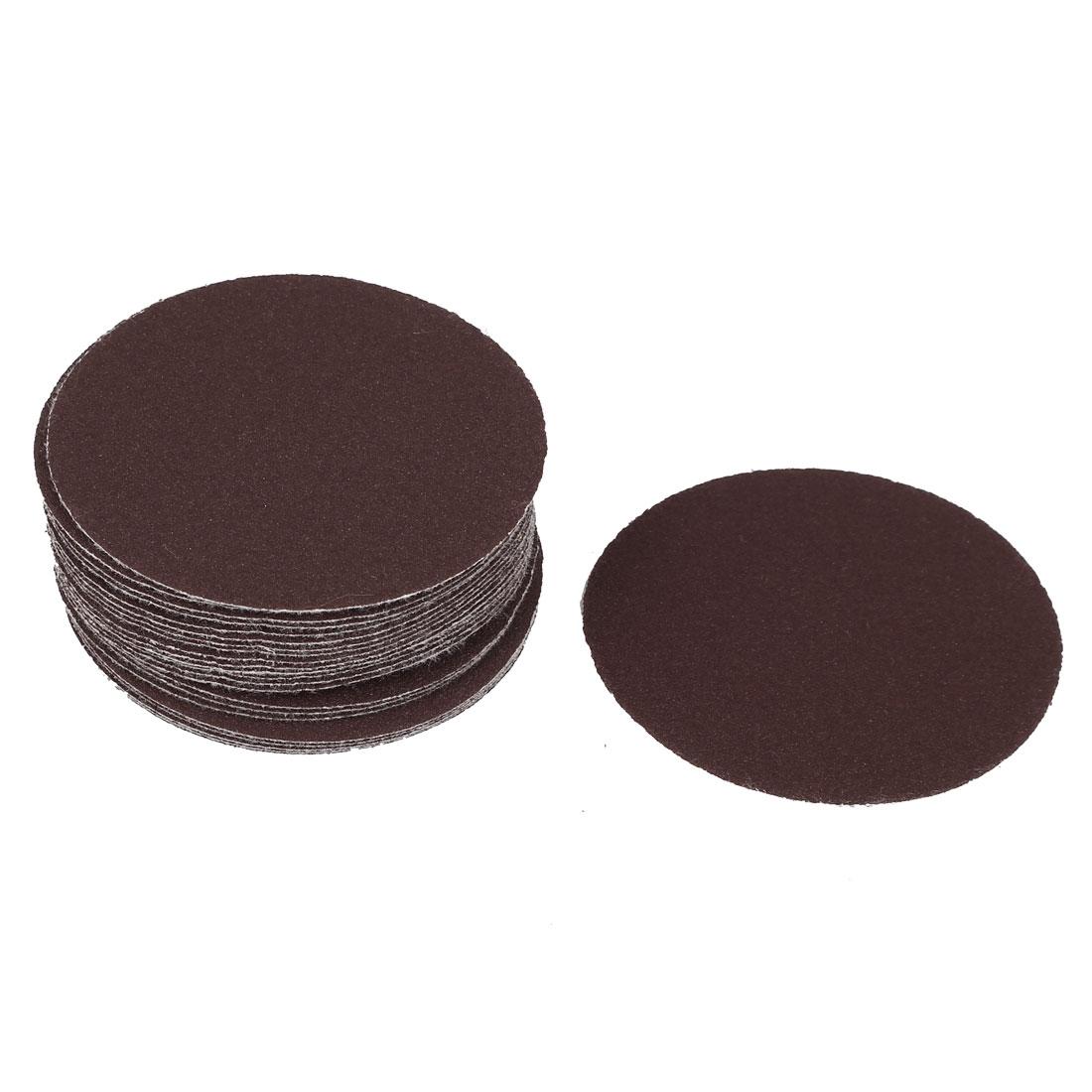 75mm Diameter 120 Grit Abrasives Hook and Loop Sanding Paper Disc Brown 25PCS