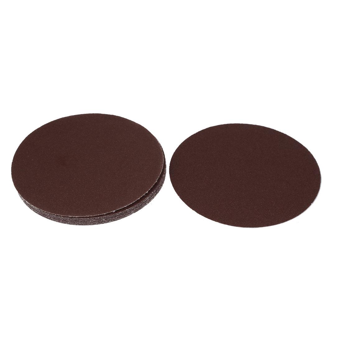 "7"" 60 Grit Abrasives Hook and Loop Sanding Paper Sheet Discs Dark Brown 10 Pcs"
