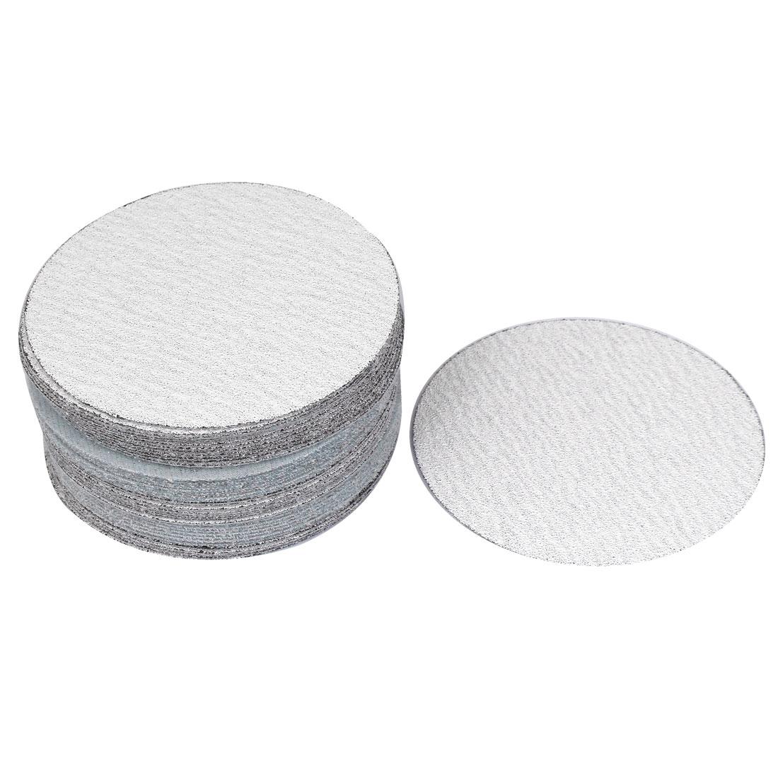 12.5cm Dia White Abrasives 80 Grit Round Hook and Loop Sanding Disc 50 Pcs