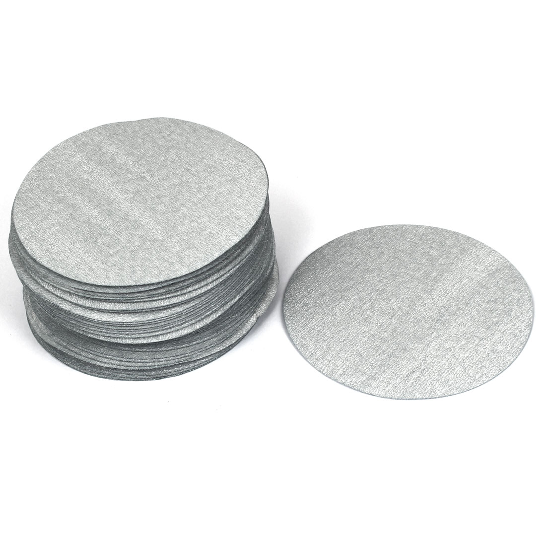 "5"" Dia 600 Grit Abrasive Polishing Hook and Loop Sanding Discs Gray 50 Pcs"