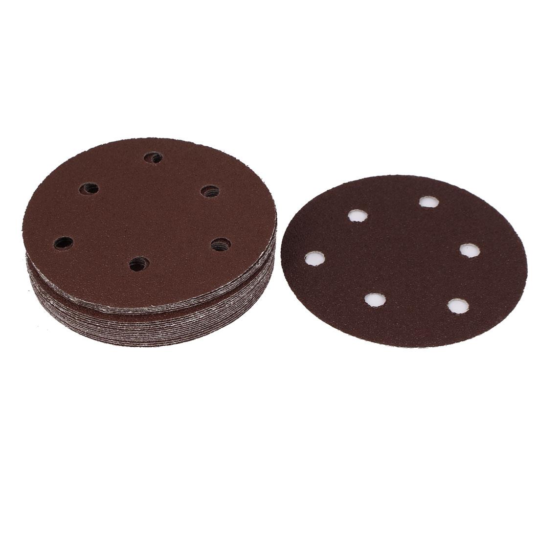 125mm Diameter 60 Grit Self Adhesive Sanding Discs Brown 20PCS