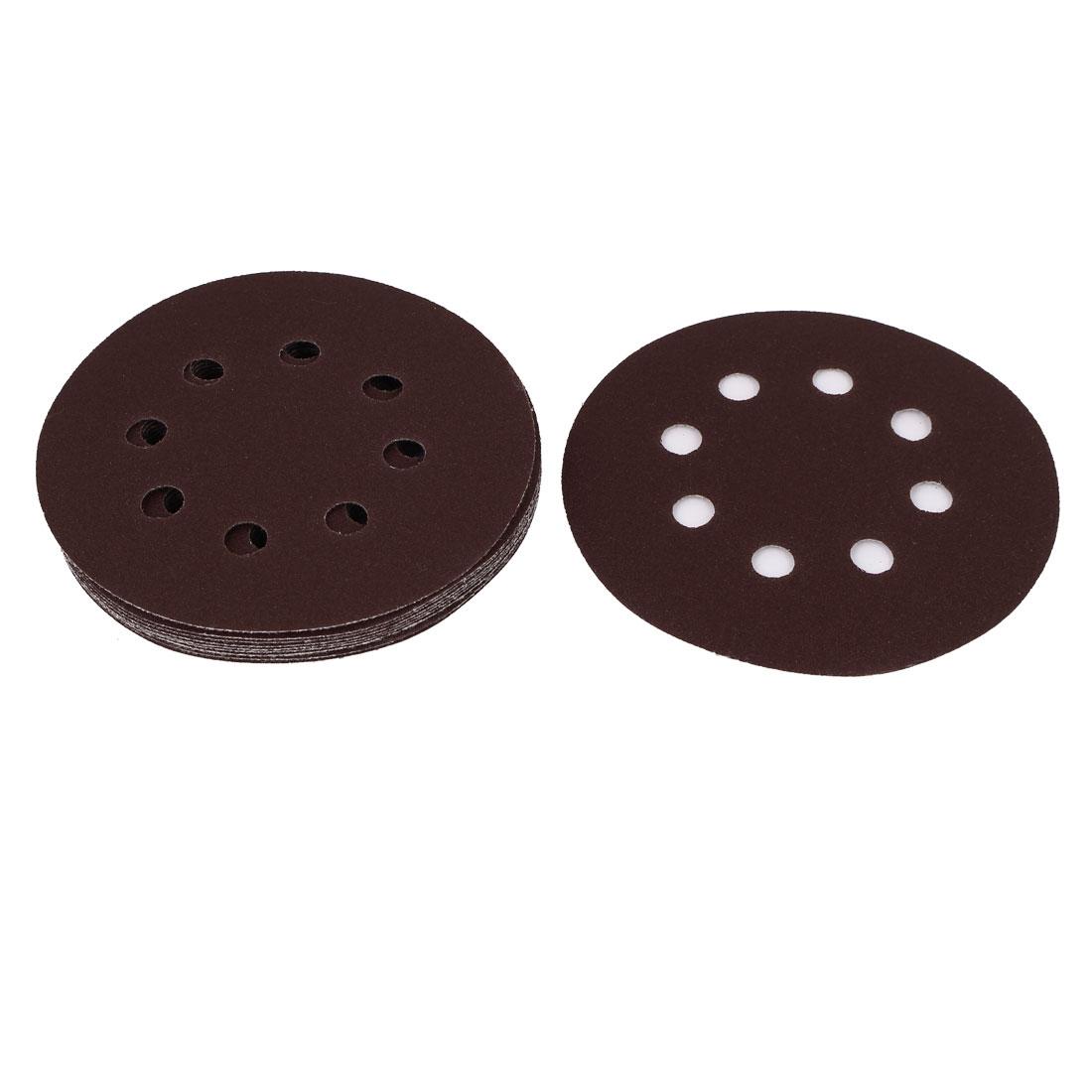 "5"" Dia 150 Grit 8 Holes Sanding Disc Sandpaper 10pcs for Oscillating Tool"