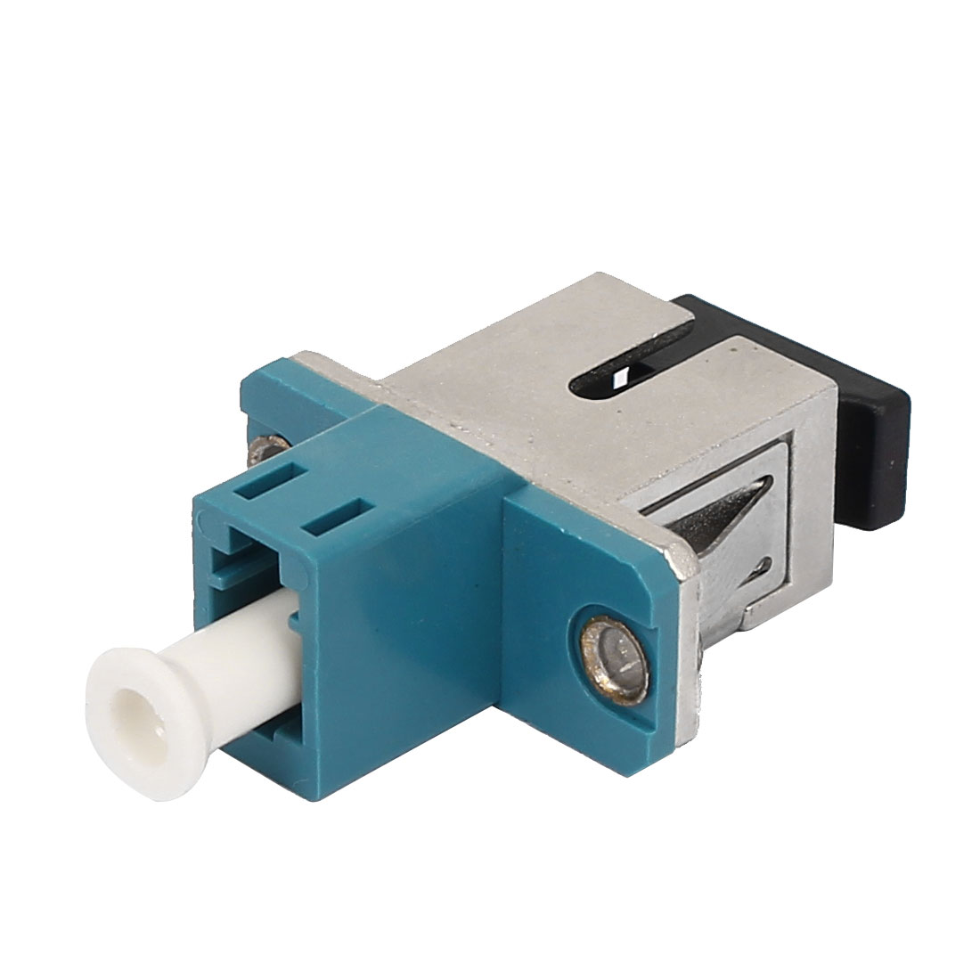 LC-SC End To End Hybrid Optical Fiber Coupler Flange Blue