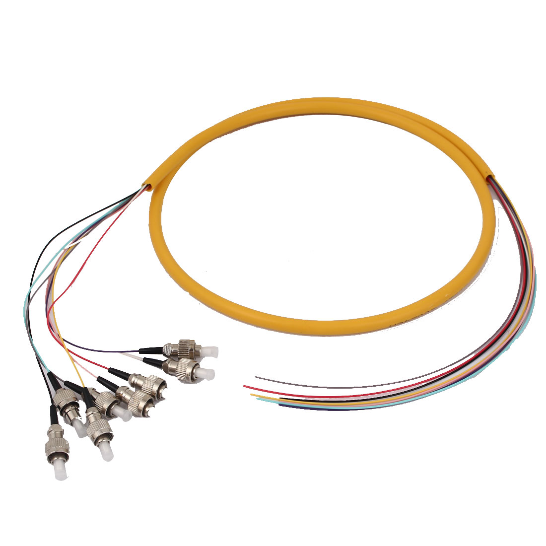Single Mode ST to FC Optical Fiber Patch Cable Connector 1.5m Length