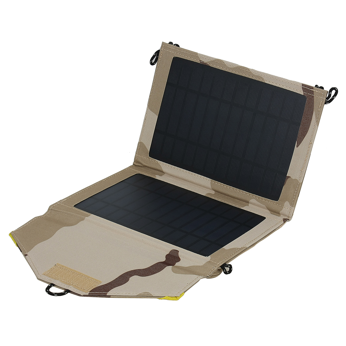 7W One Ports USB Foldable Solar Panel Charger for Smart Phone Portable Pad More Camouflage