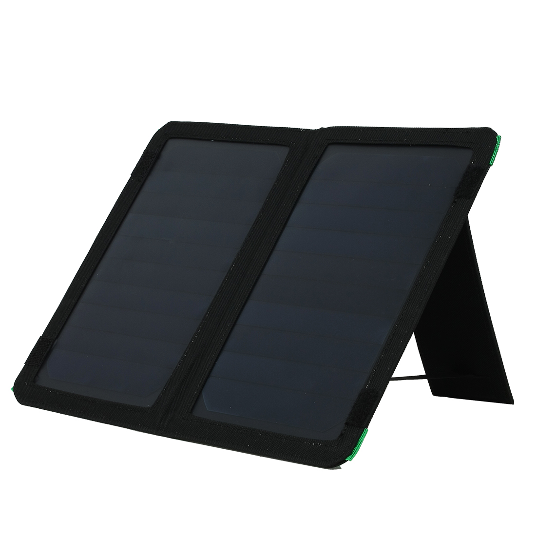 10W Single Ports USB Foldable Solar Panel Charger for Smart Phone Portable Pad More Black