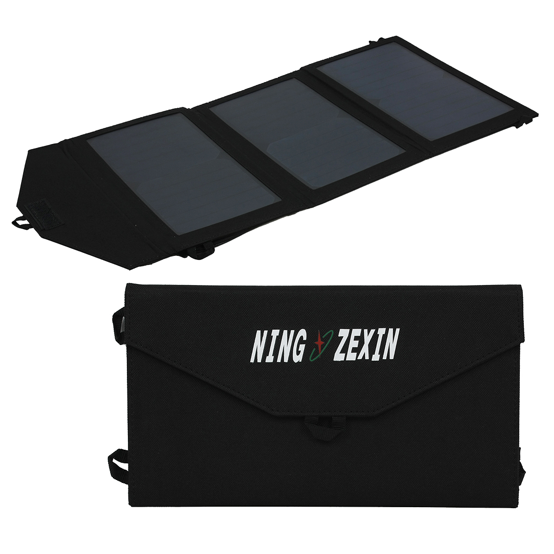 20W Dual Ports USB Flexible Solar Panel Charger for Smart Phone Portable Pad More
