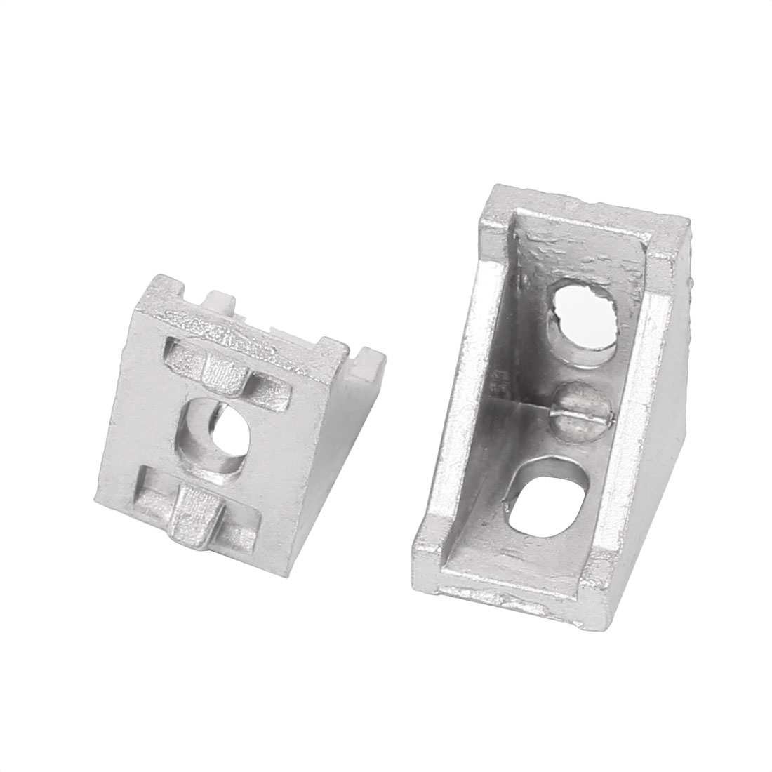 28x28x20mm Aluminum Alloy Corner Vertical Angle Brackets Supports 2pcs