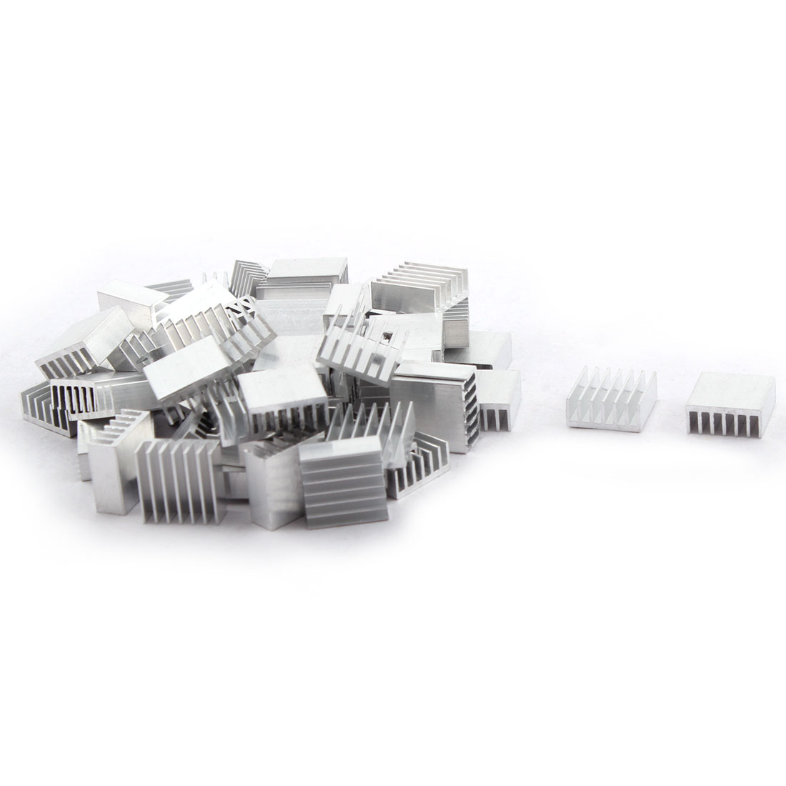 14mm x 14mm x 6mm Aluminum Radiating Cooler Cooling Fin Heatsink 65 PCS