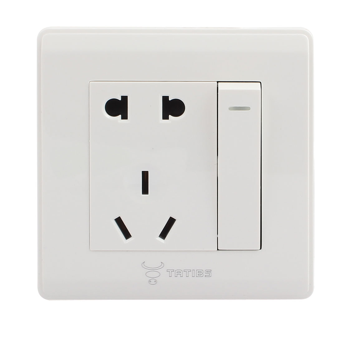 White Plastic Shell AU US EU Outlet 2P+3P Socket Wall Panel Switch 10A 250V AC