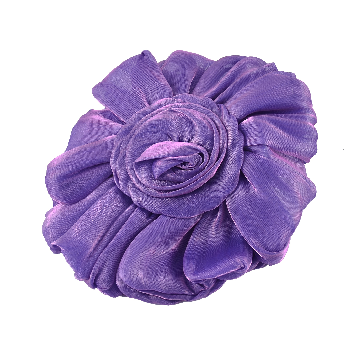 Celebration Wedding Party Organza Flower Shaped Pew Seat Chair Decoration Purple