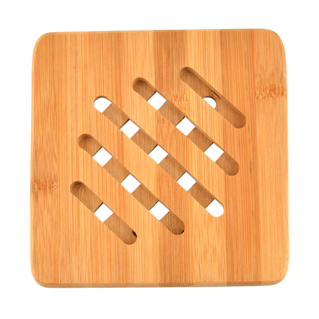 Bamboo Square Shape Heat Resistant Kitchen Table Pot Cup Mat Cushion