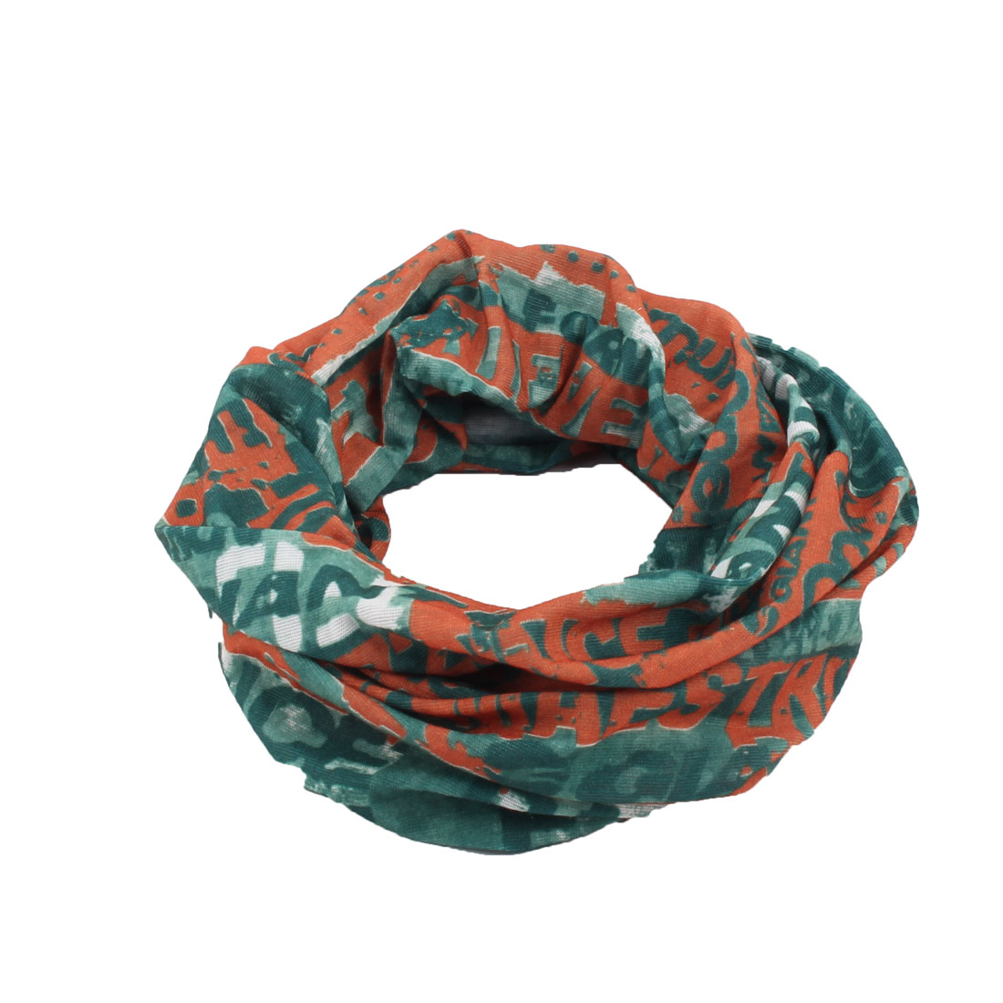 Women Lady Letter Pattern Elastic Headband Hairband Head Wrap Hair Band Green
