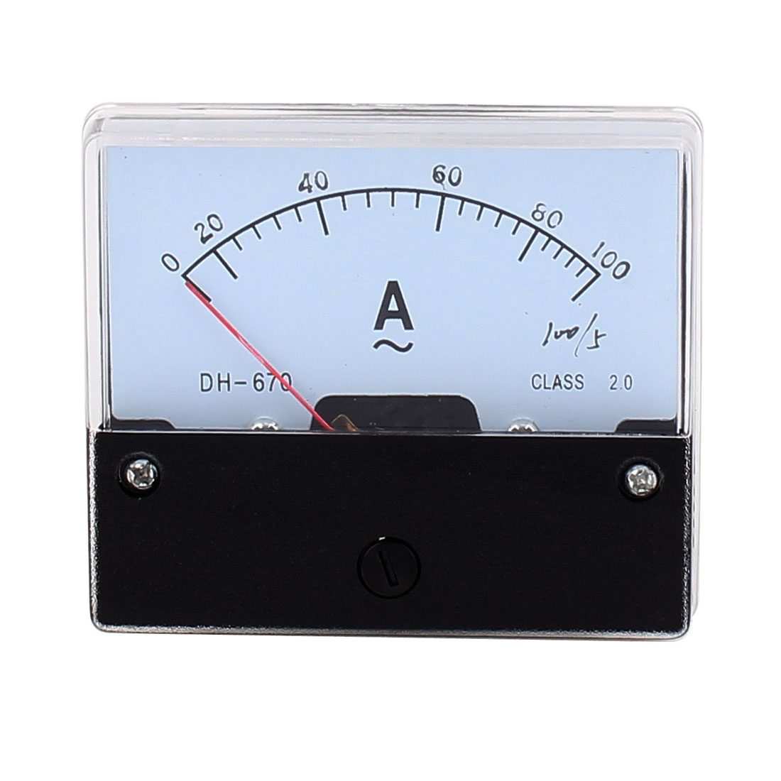 AC 0-100A Class 2.0 Analog Current Rectangle Panel Meter Ammeter Tester Gauge