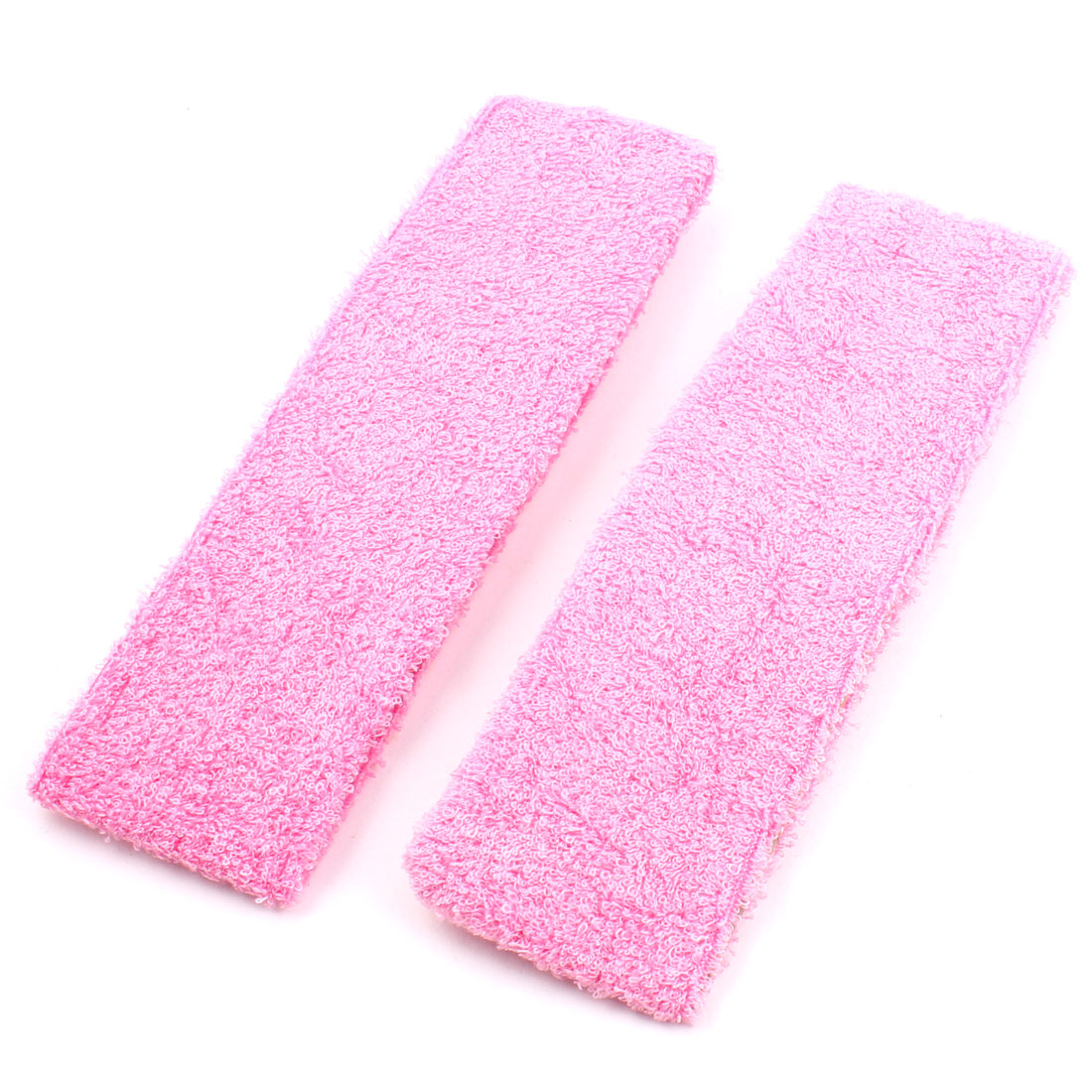 Women Ladies Gym Sports Stretchy Hairband Headband Hair Head Band Fuchsia 2pcs
