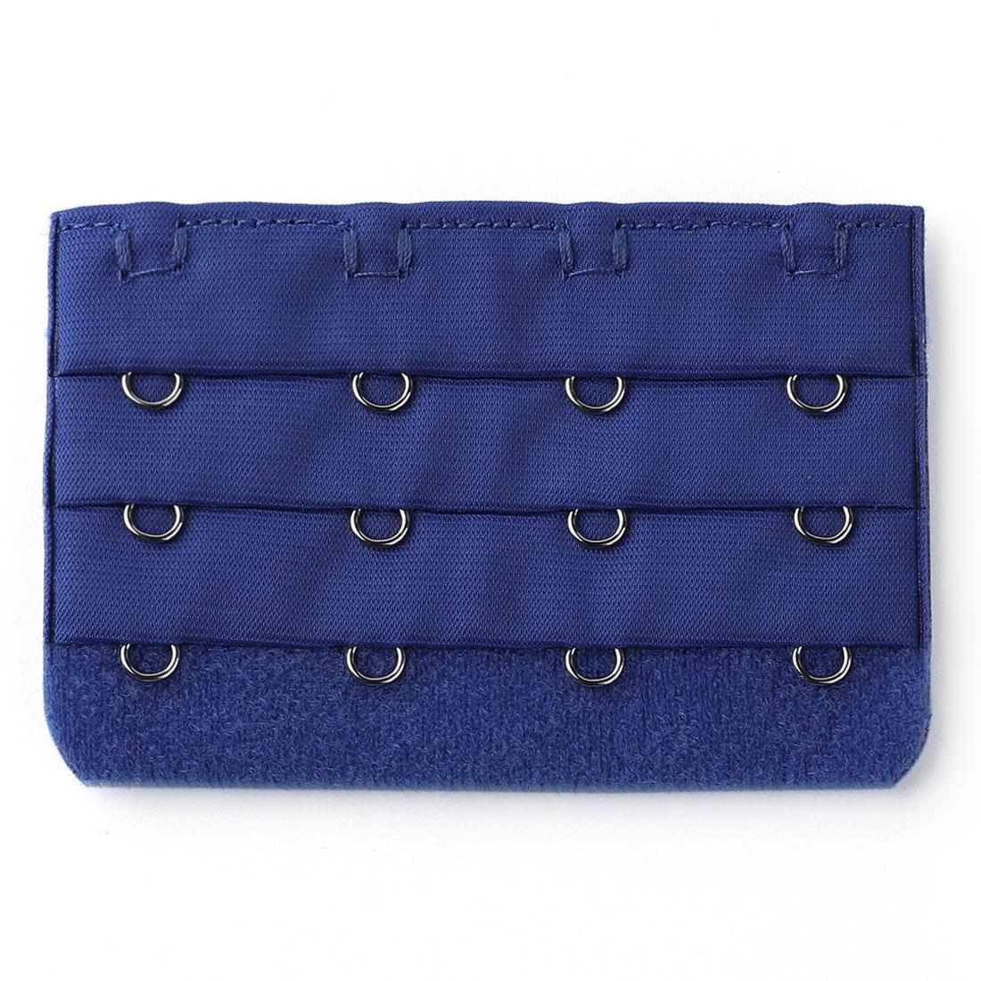 Women Ladies 3 Rows 4 Hooks Underwear Bra Extension Strap Extender Dark Blue