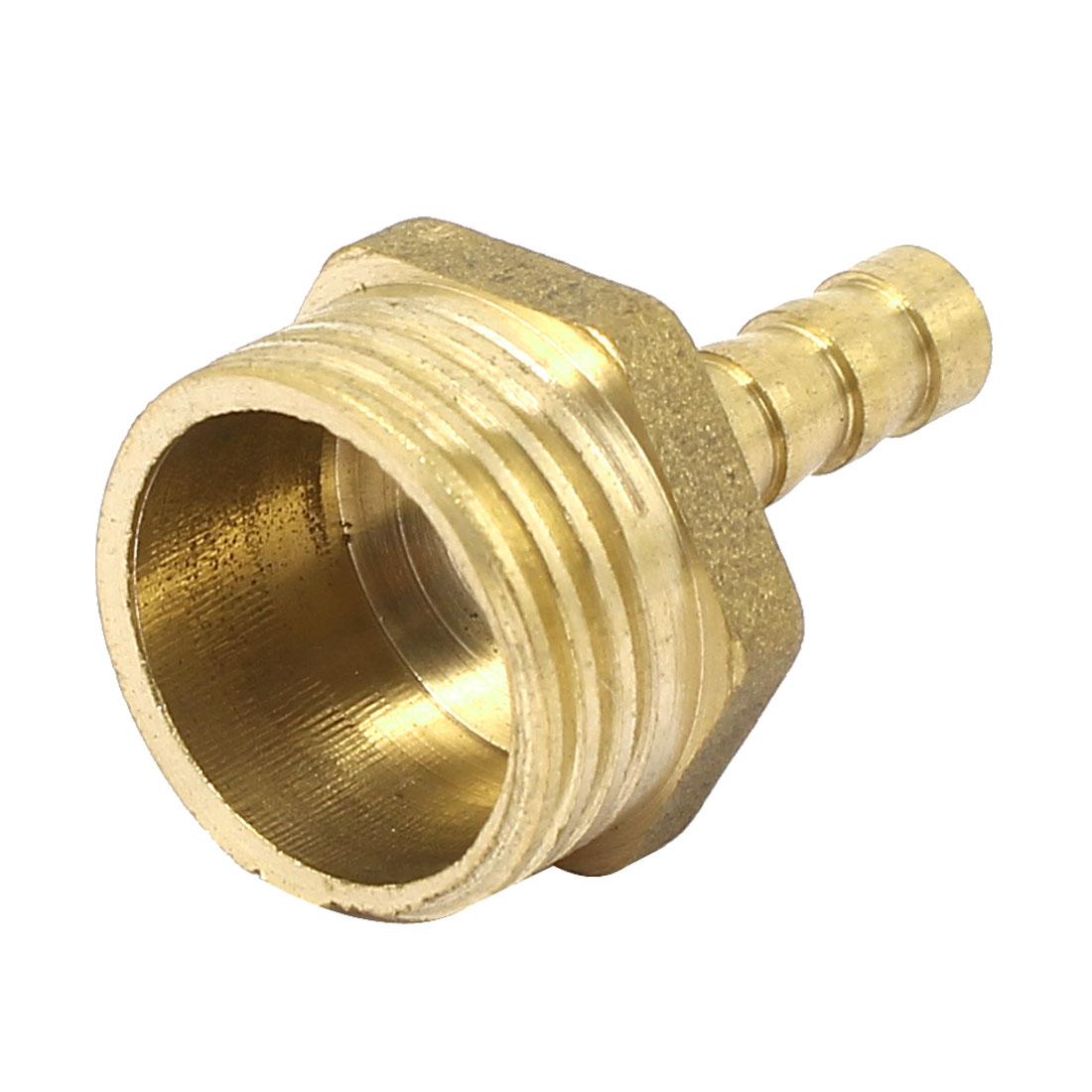 1/2 BSP Male Thread 6mm Barb Hose Tubing Fitting Connector Adapter Gold Tone