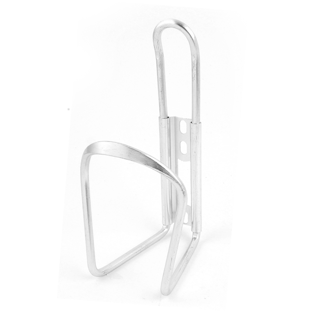 Metal Cycling Sport Bike Bicycle Drink Water Bottle Bracket Rack Holder Silver Tone