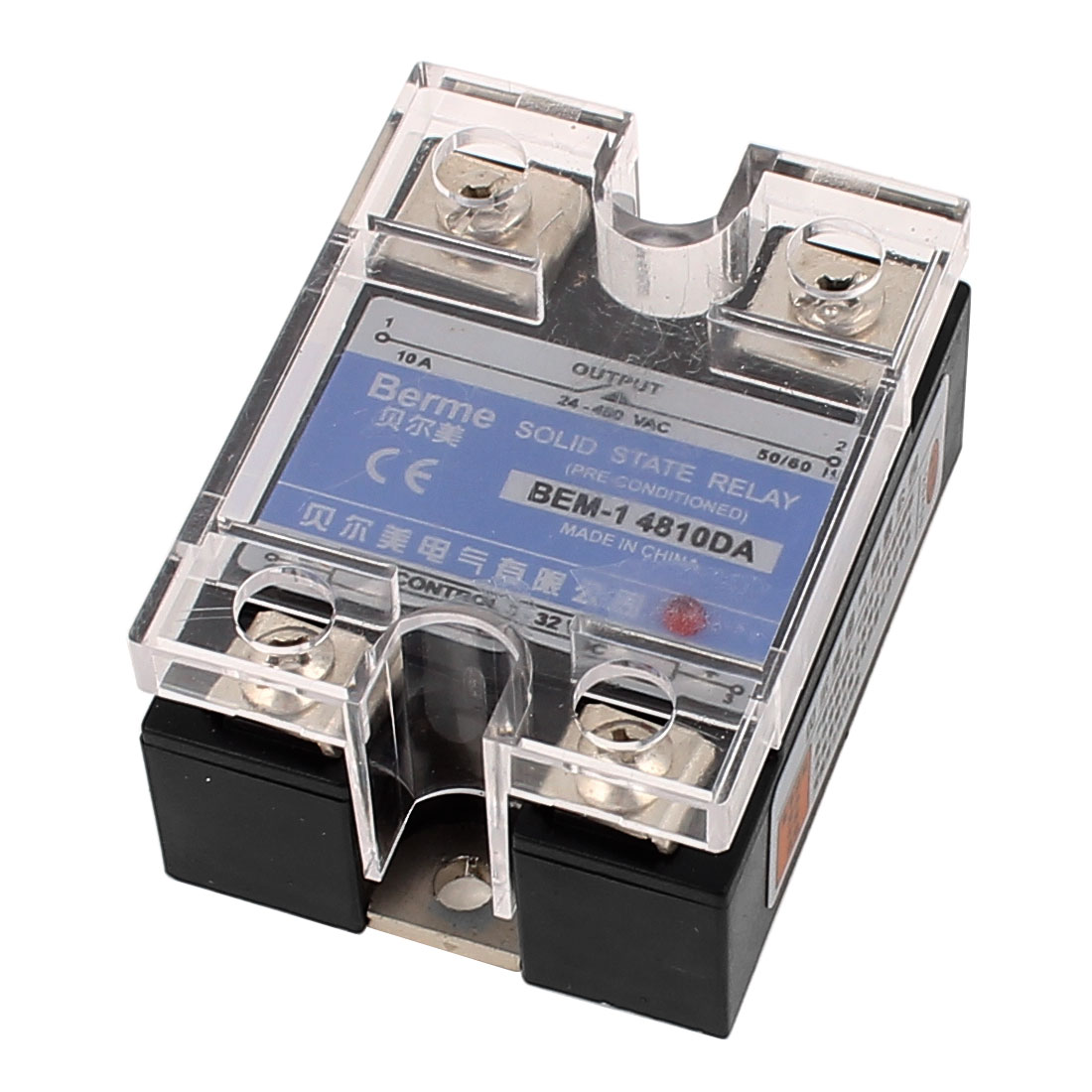 DC-AC 3V-32VDC Input to 24V-480VAC Output 10A Single Phase Solid State Relay
