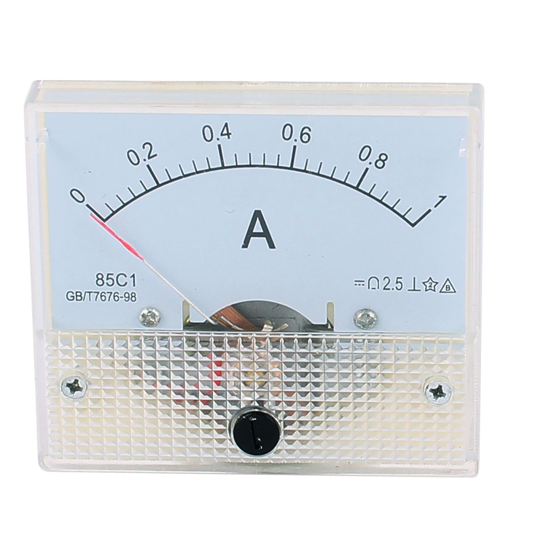 DC 0-1A Rectangle Panel Meter Current Analogue Analog Ammeter Tester Gauge White
