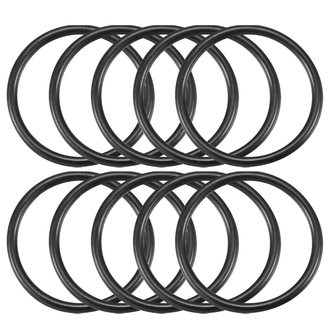 25mm x 21mm x 2mm Rubber Oil Gas Seal Tap Washer Gasket O Ring Black 10pcs