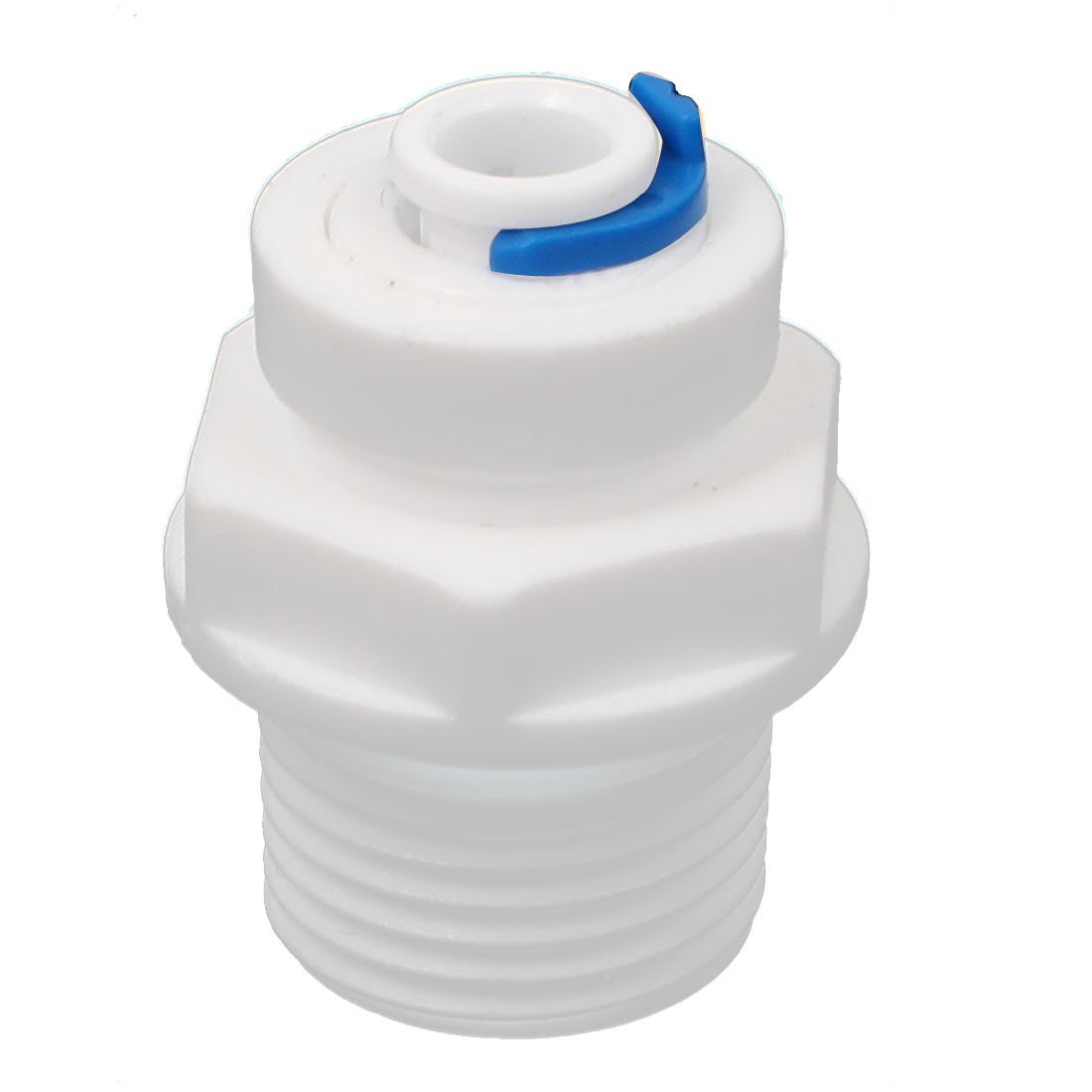 1/2 BSP Thread 6.5mm Inner Dia Plastic Water Dispenser Quick Adapter Connector