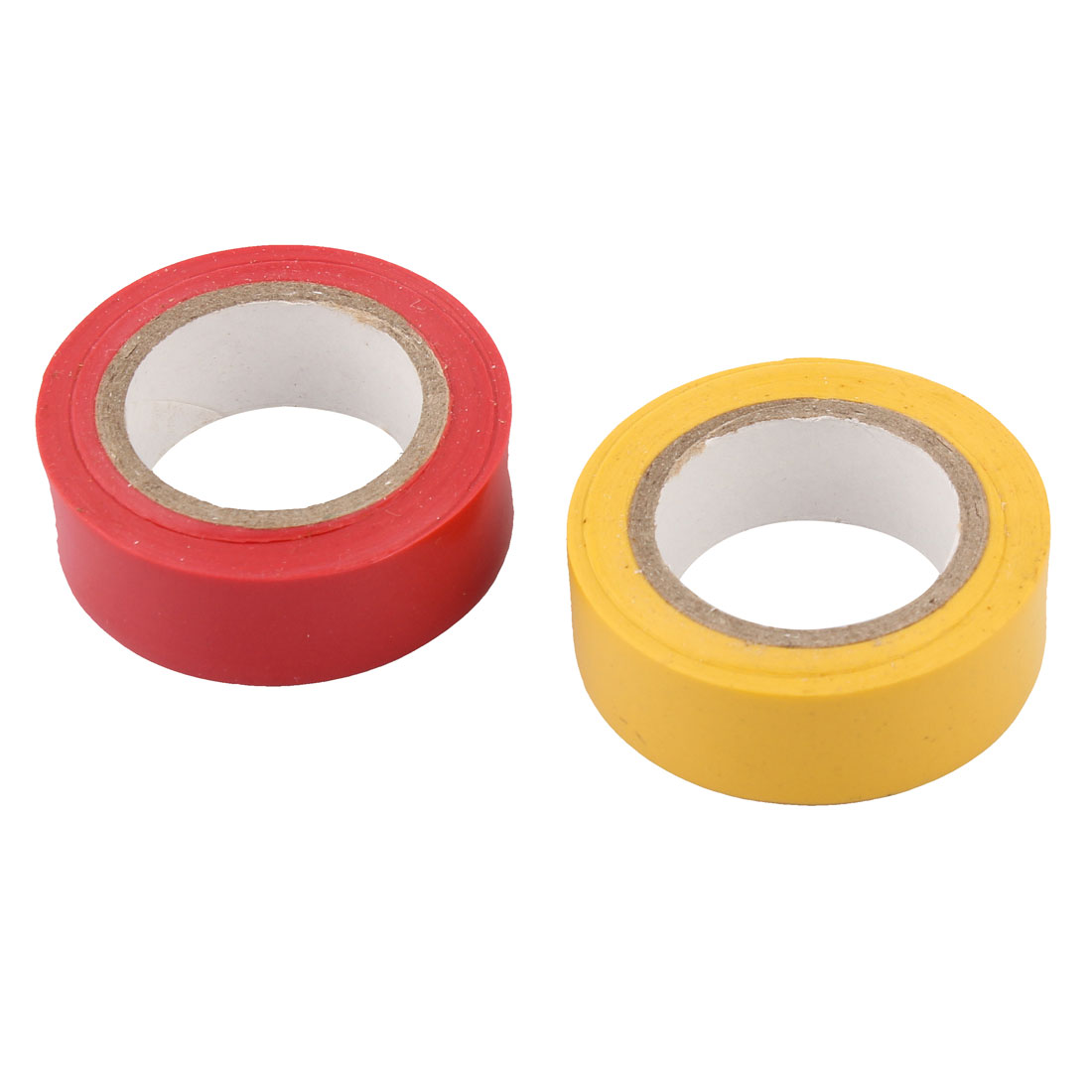 17mm Width Self Adhesive Electrical Wire Insulation Tape Roll Red Yellow 2pcs