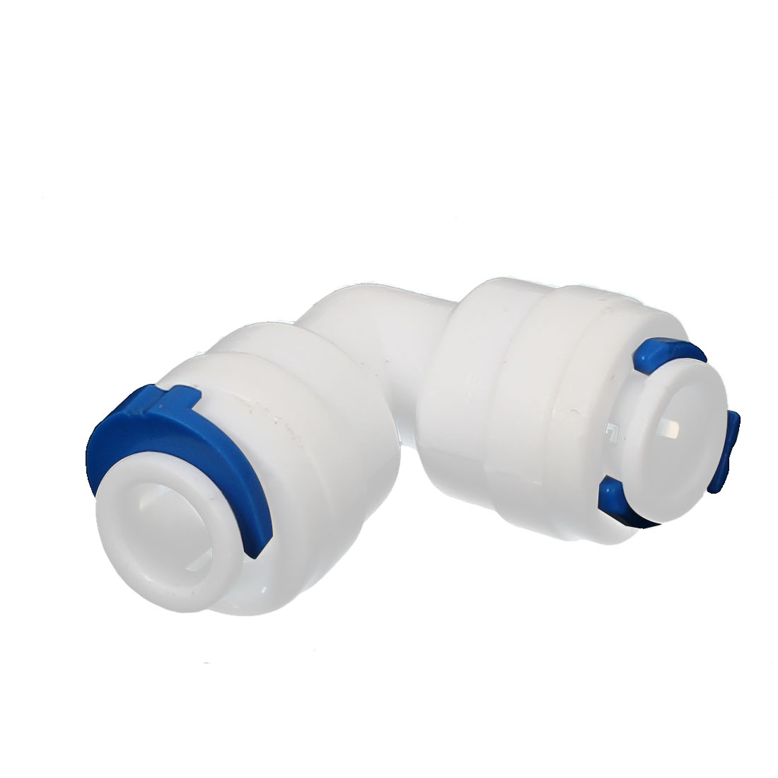 Plastic 6.5mm Inner Dia L Shaped Push in Water Dispenser Quick Adapter Connector