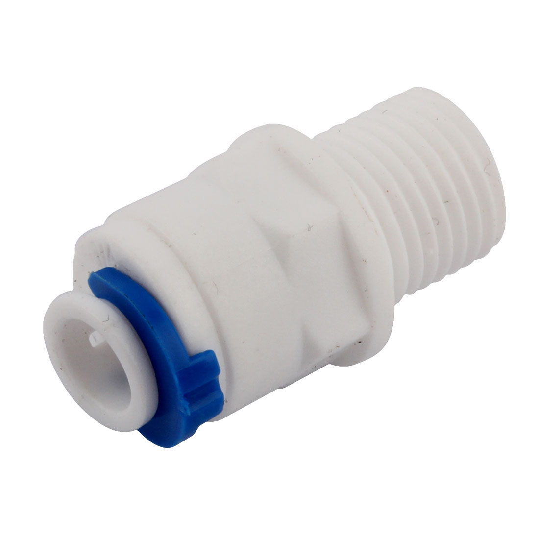1/4 BSP Thread 6.5mm Inner Dia Plastic Water Dispenser Quick Adapter Connector