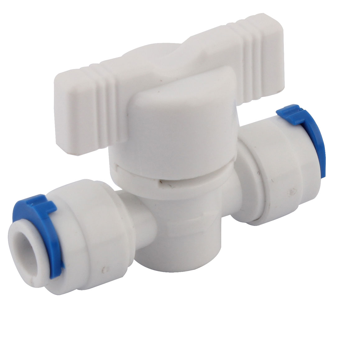 15mm OD Tube Plastic Straight Water Dispenser Valve Quick Adapter Connector