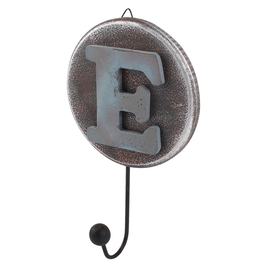 "Home Wall Decor Retro Style Alphabet ""E"" Pattern Calendars Hanger Hook"