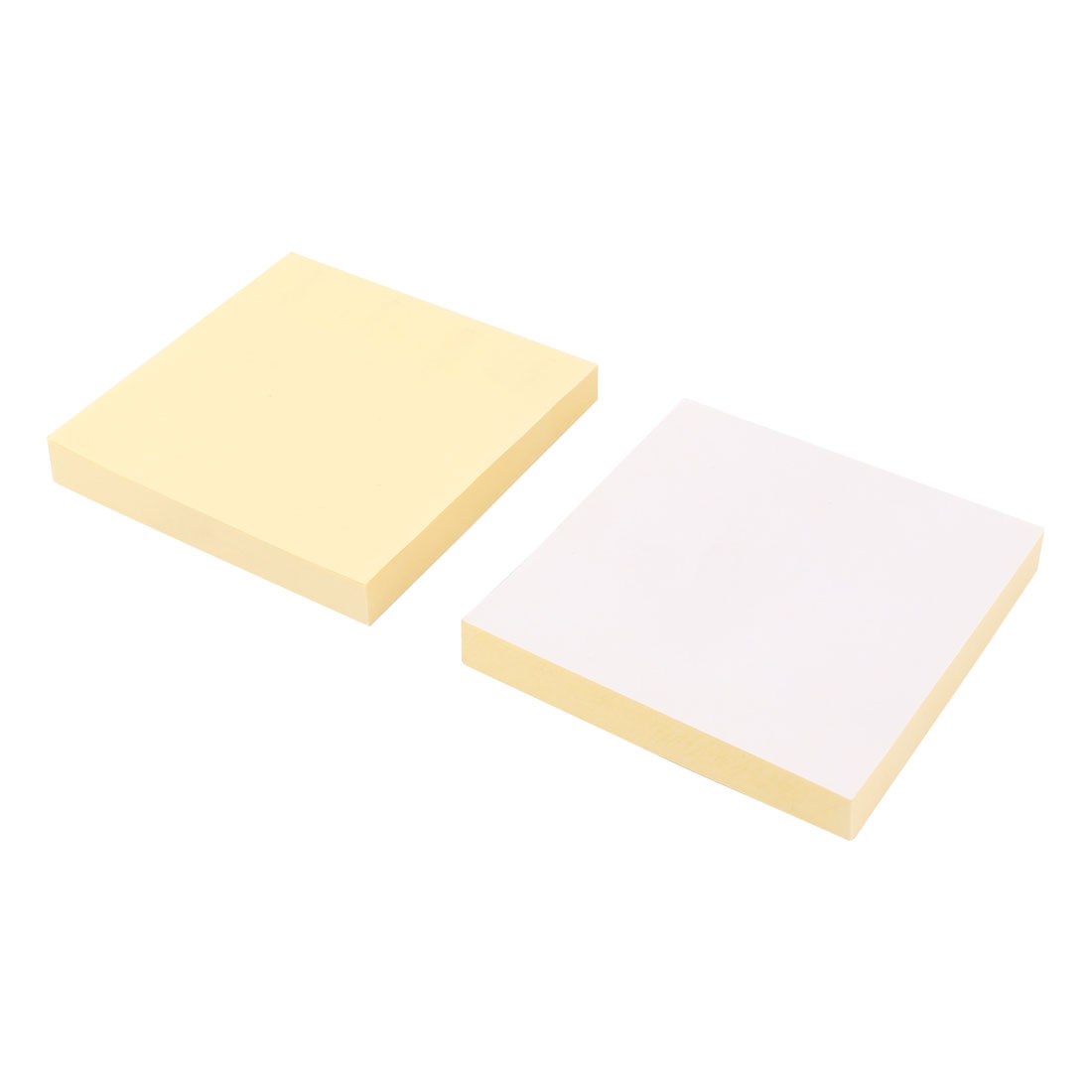Home Office Self Adhesive 100 Sheets Memo Sticky Note Yellow 76 x 76mm 2 Pack