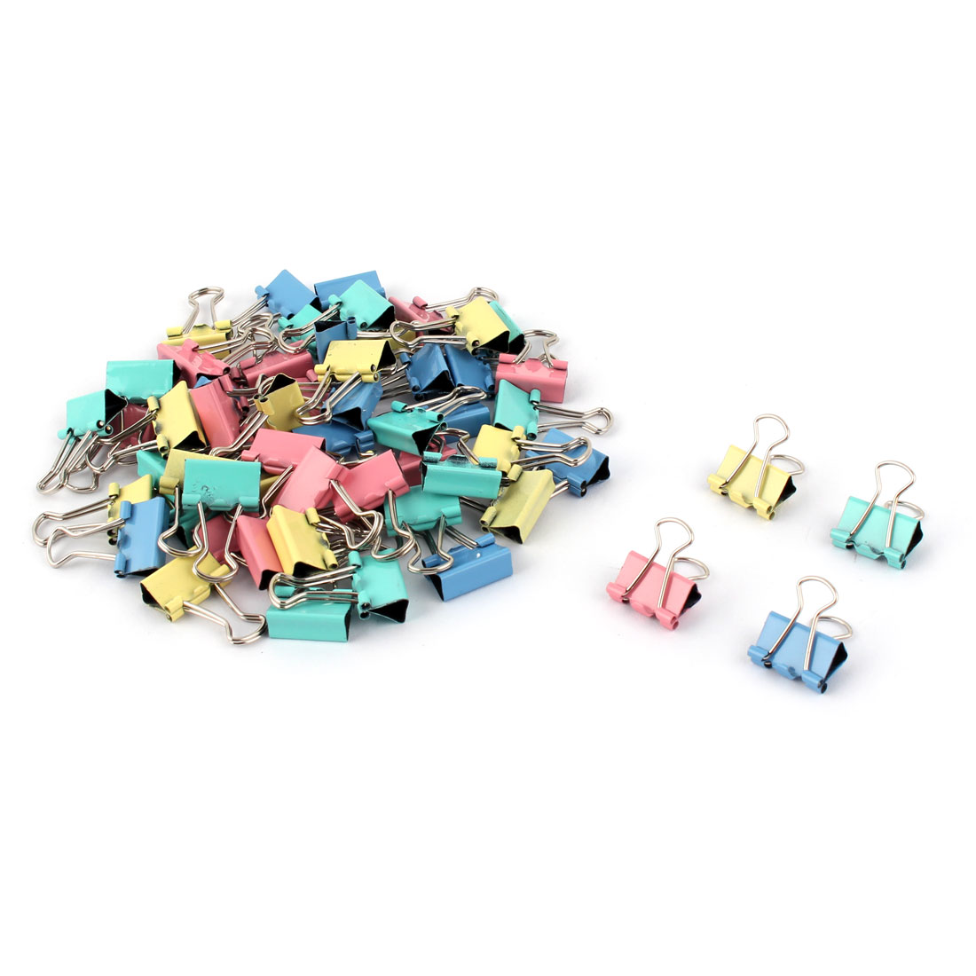 Home Office Metal Bill Ticket File Paper Mini Binder Clips Clamps 60pcs