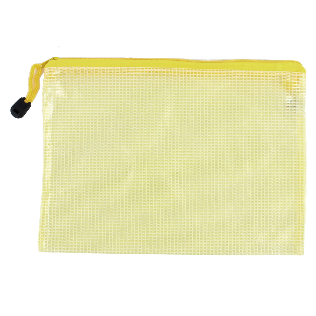 School Office Portable A5 Document File Zipped Folder Holder Bag Yellow