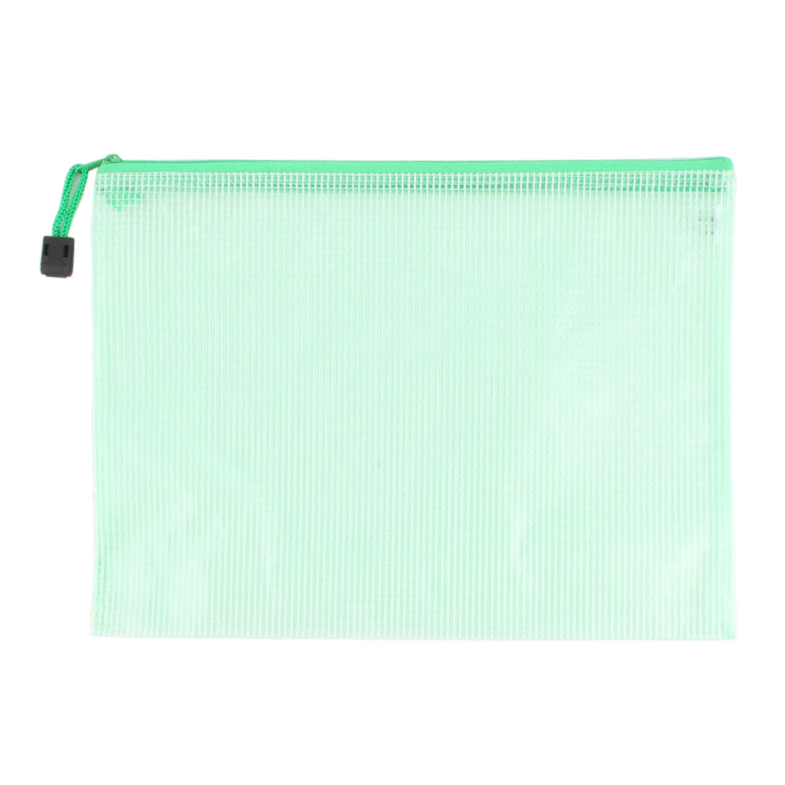School Office Portable Document File Zippy Closure Folder Holder Bag Green