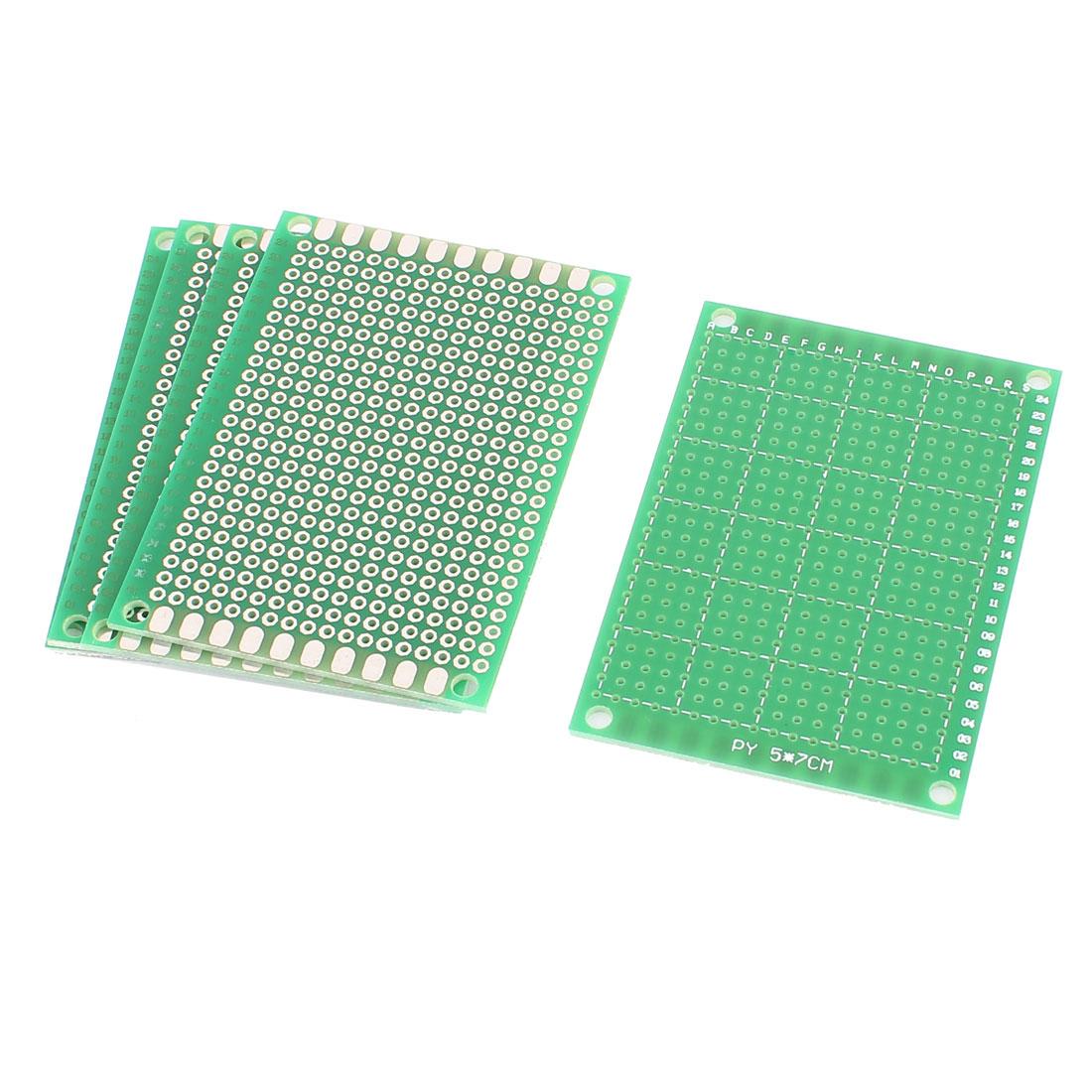 5 PCS 5cm x 7cm Green FR-4 One Side Prototypinge Paper DIY Universal PCB Print Circuit Board