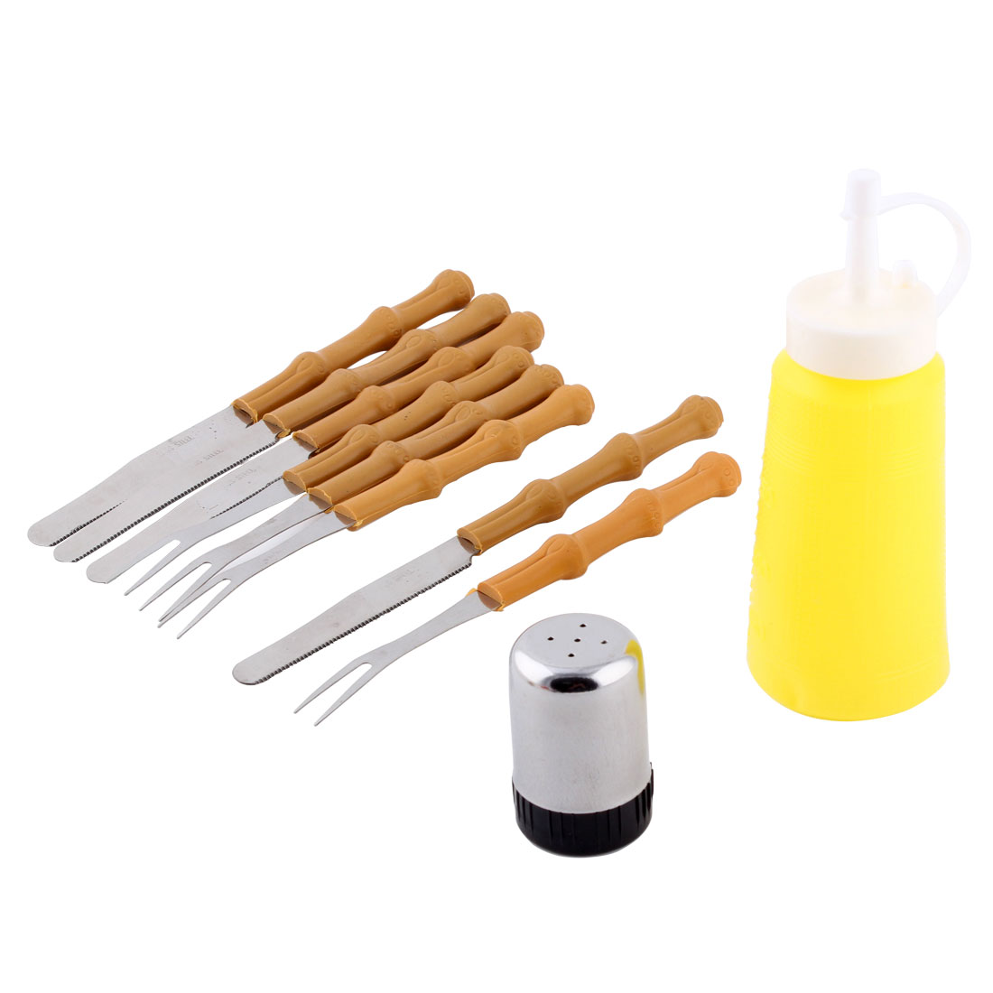 Plastic Handle Stainless Steel Cooking Barbecue Utensil BBQ Tool Set 10 in 1