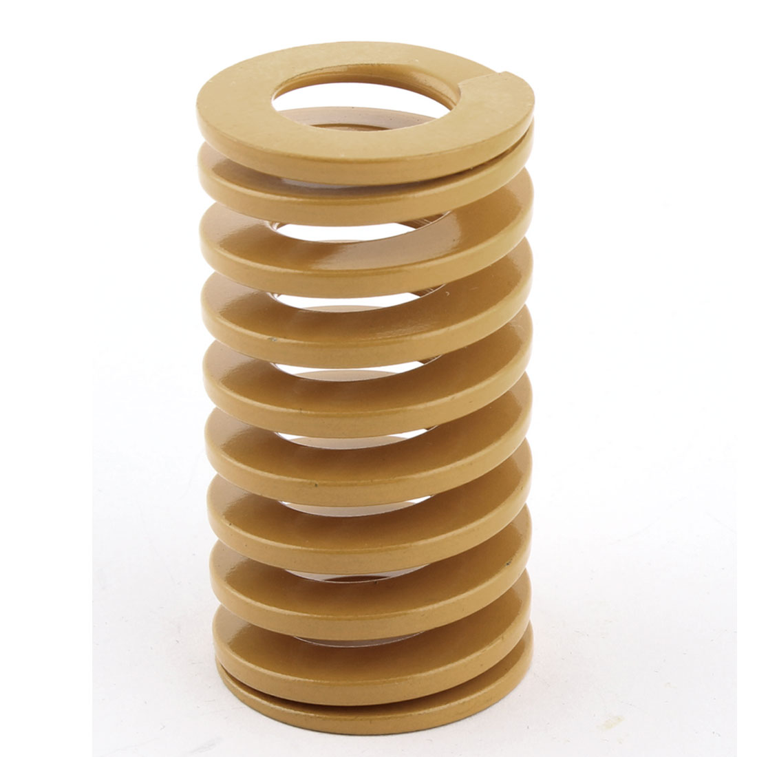 Chromium Alloy Mould Flat Wire Compression Spring Yellow 30mmx55mm