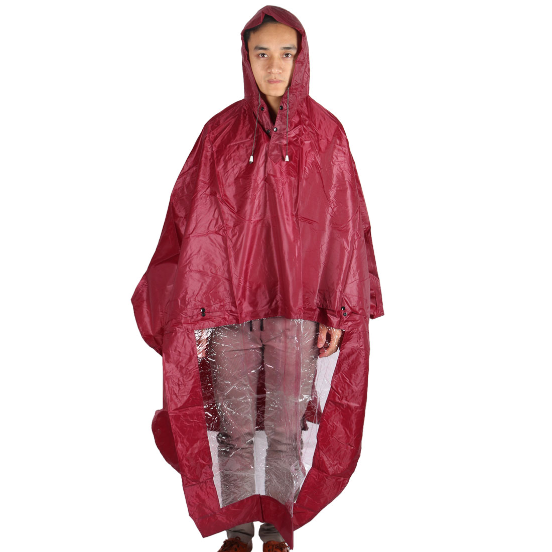Outdoor Motorcycle Scooter Plastic Cover Water Resistant Dustproof Raincoat Protector Red
