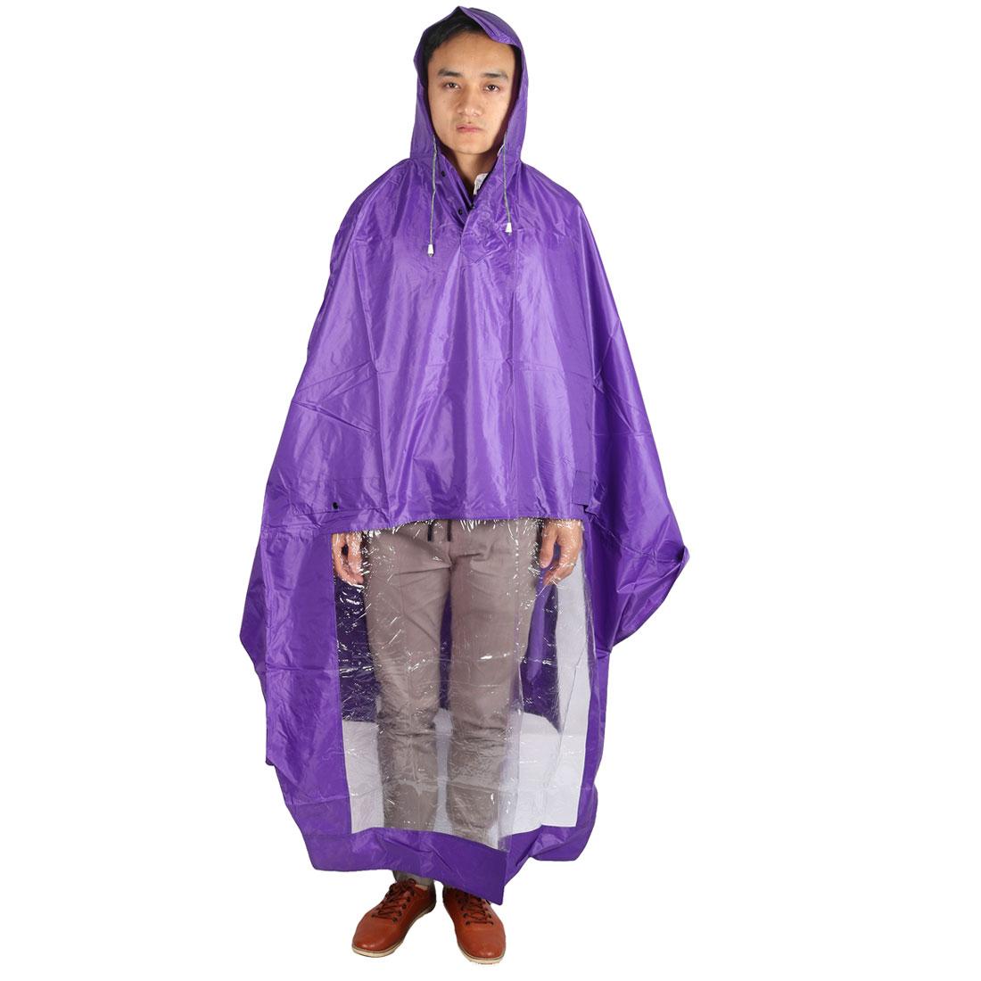 Outdoor Motorcycle Scooter Plastic Cover Water Resistant Dustproof Raincoat Protector Purple