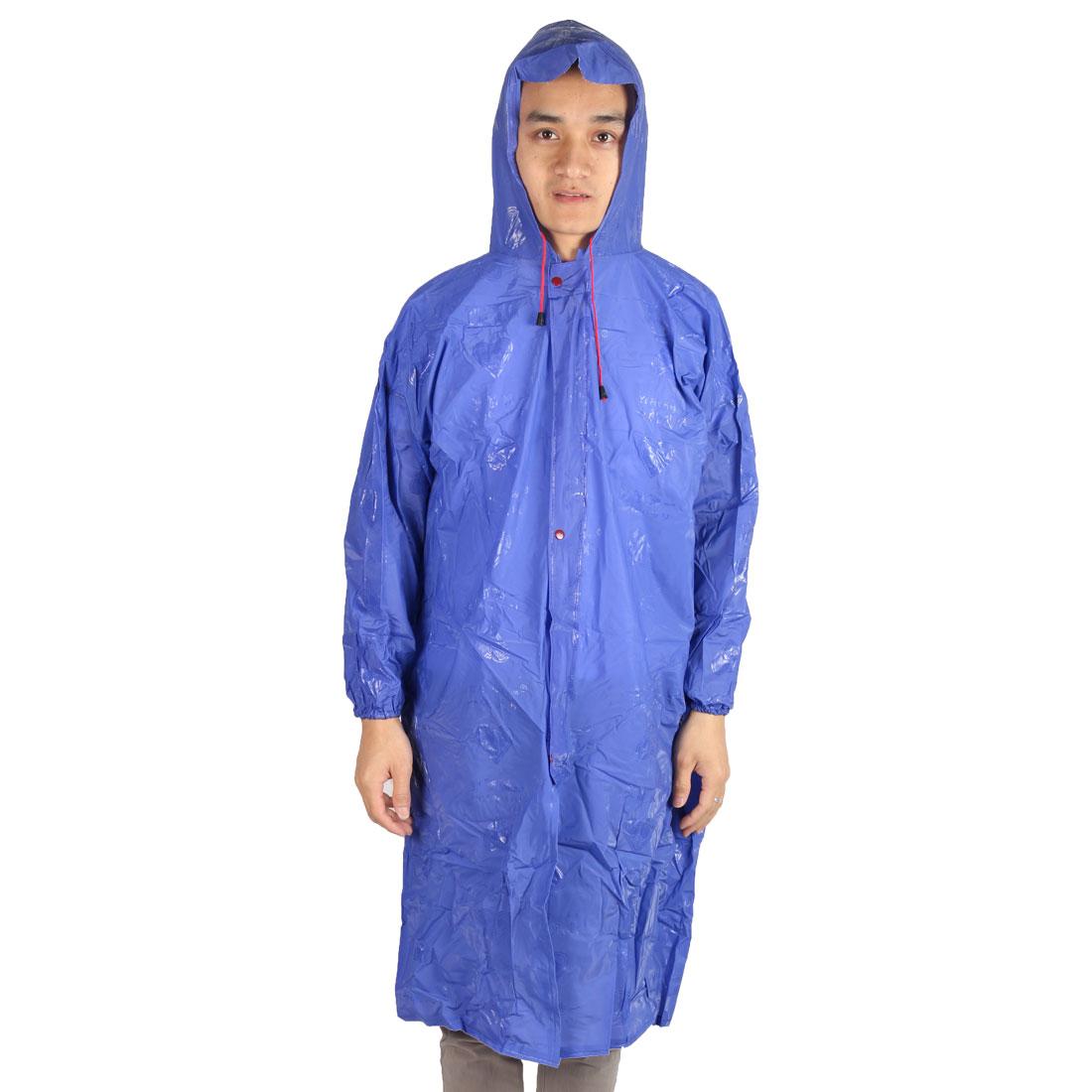 Outdoor Camping Hiking Motorcycle Plastic Water Resistant Dustproof Raincoat Protector Blue