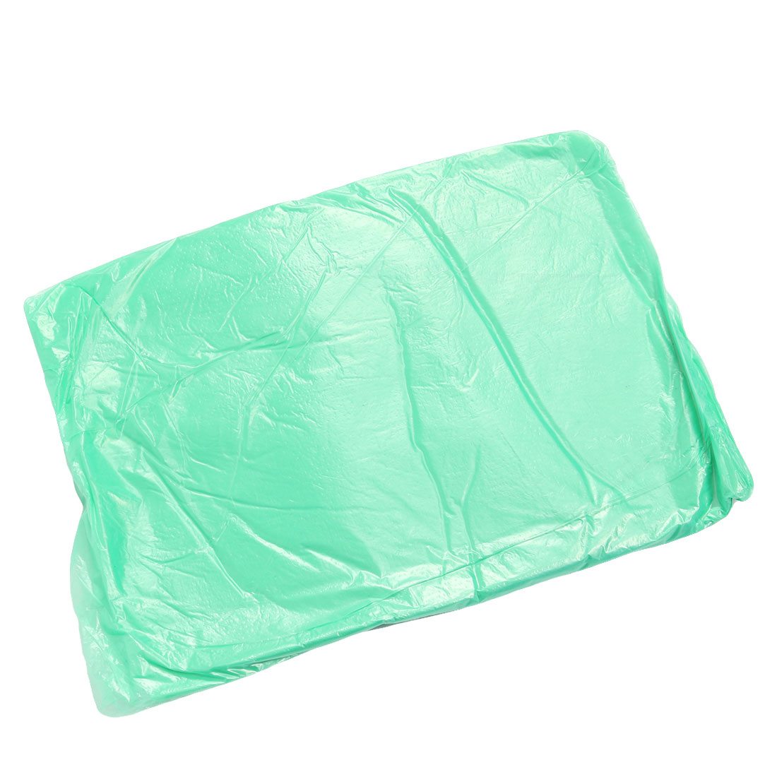 Unisex PVC Plastic Disposable Water Resistant Outdoor Poncho Raincoat Green 10pcs