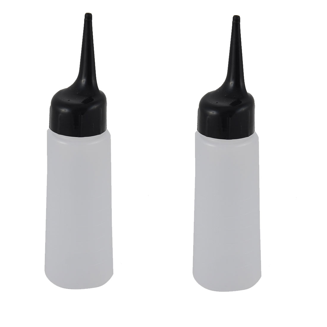 Household Plastic Hair Wash Shampoo Squeeze Bottle Container Black White 2 Pcs